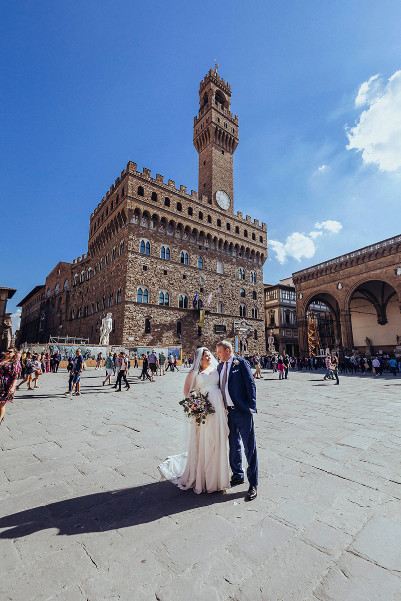 Wedding ceremony in Florence