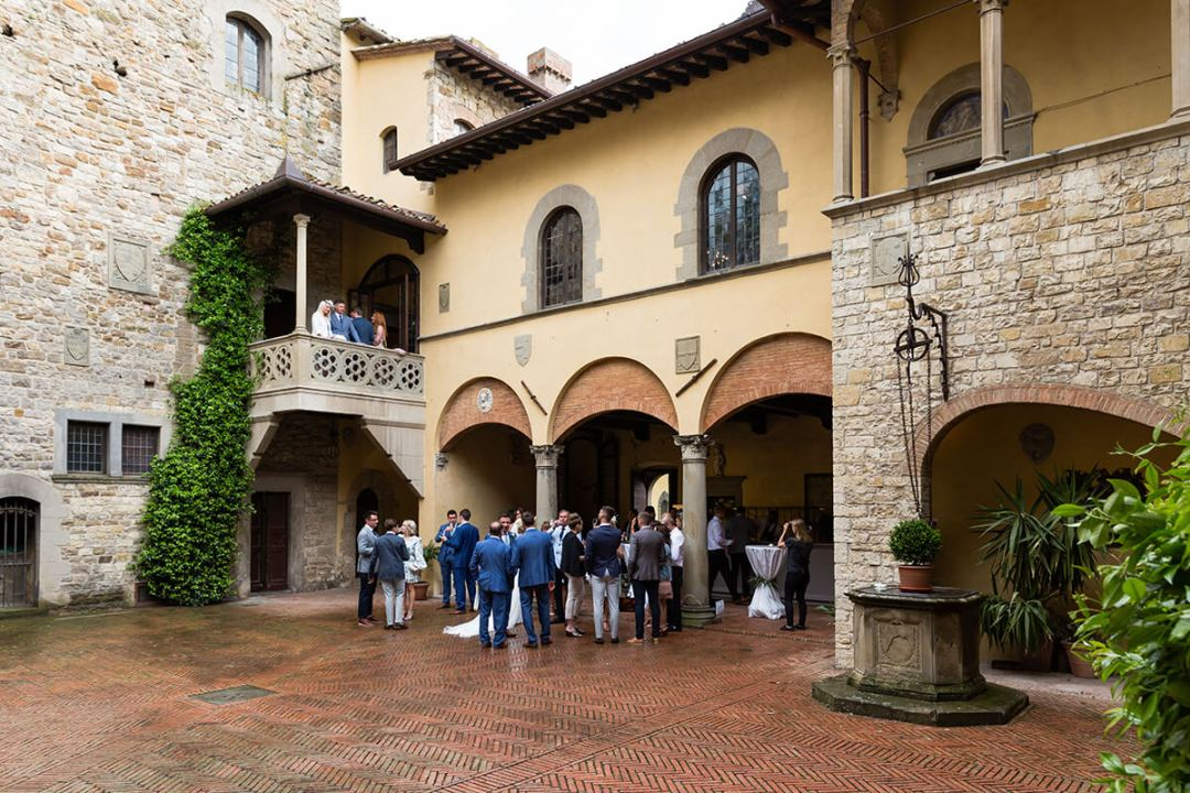 In tuscany castle wedding