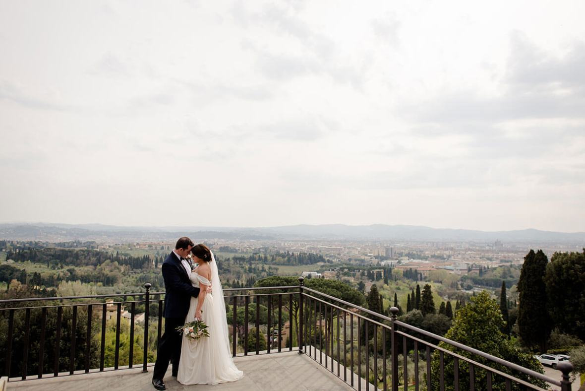 intimate ceremony in the gardens of Villa Le Fontanelle