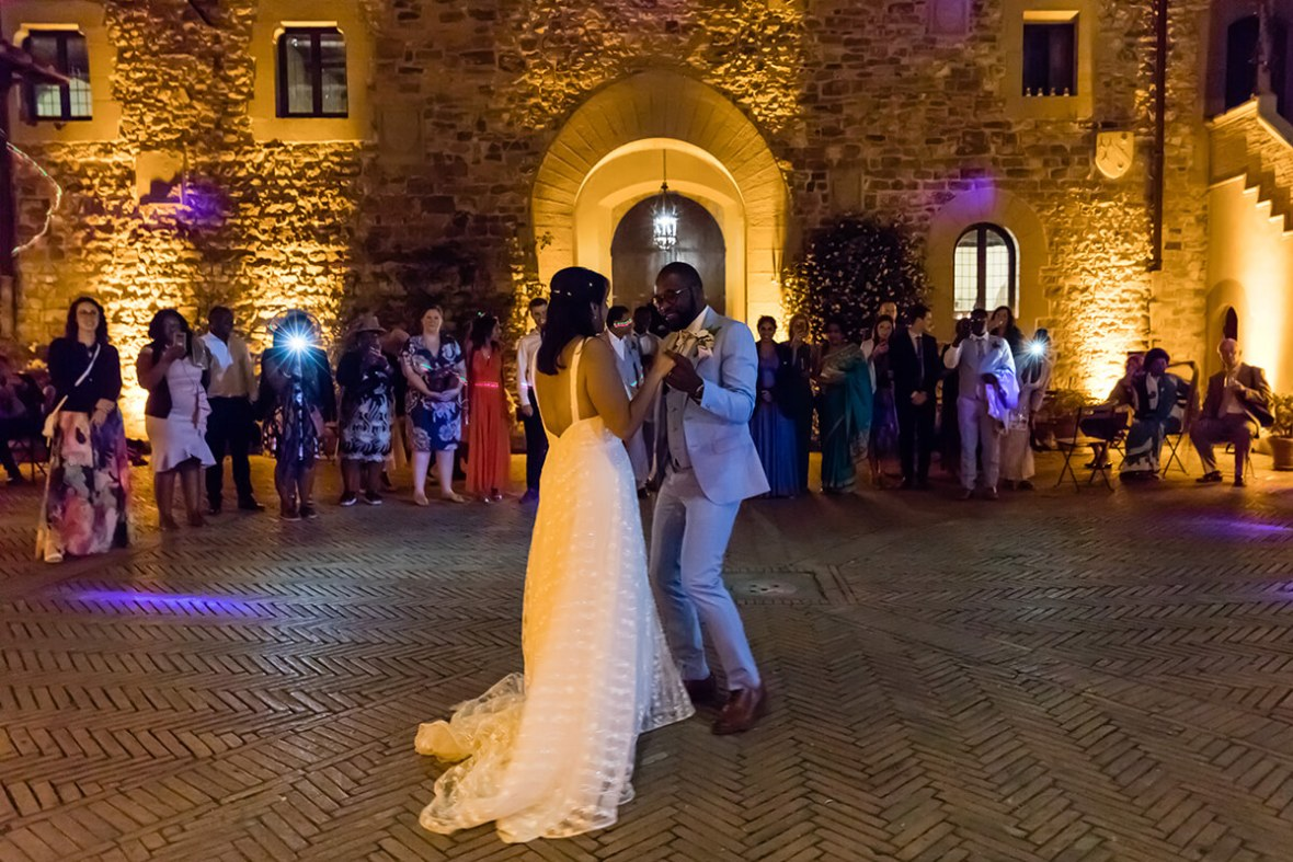 wedding reception in a Castle in Italy