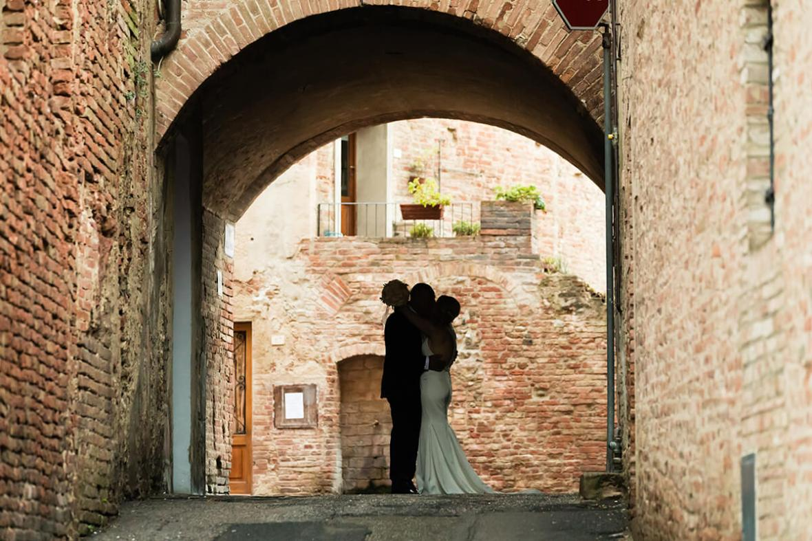 wedding in a tuscan medieval town