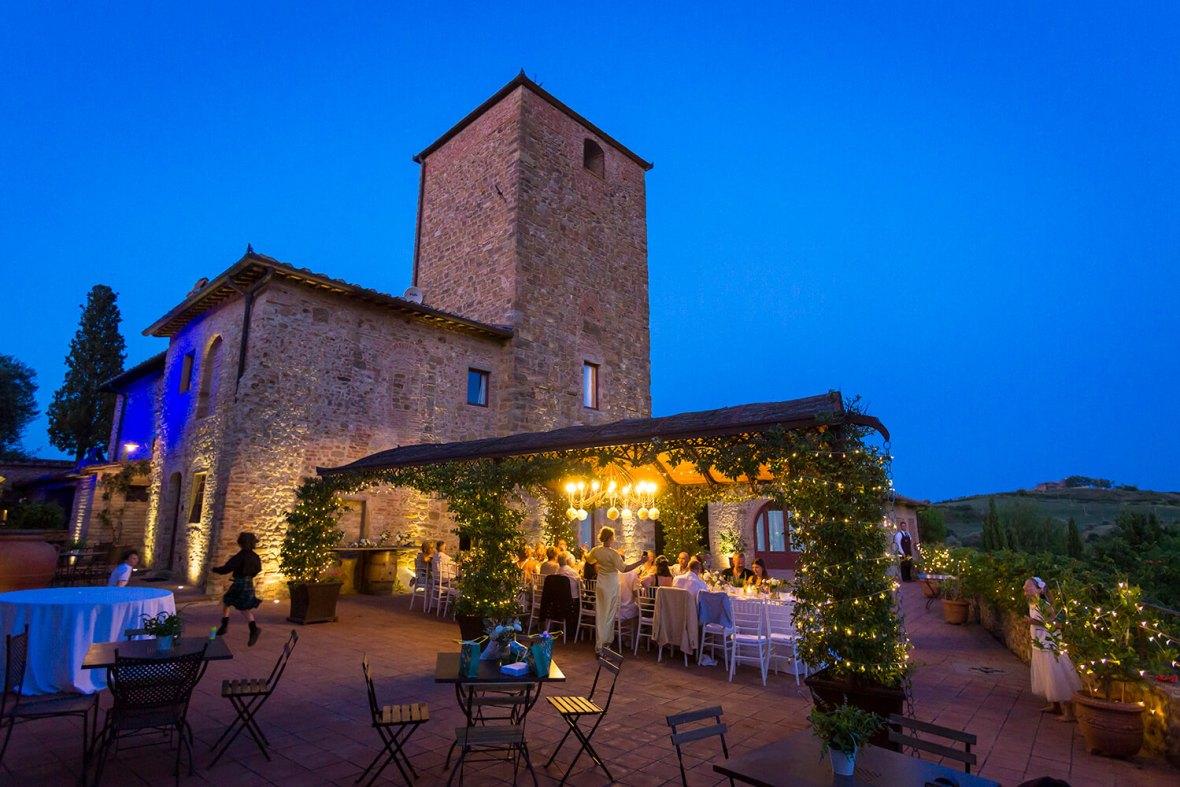 outdoor wedding reception in Italy