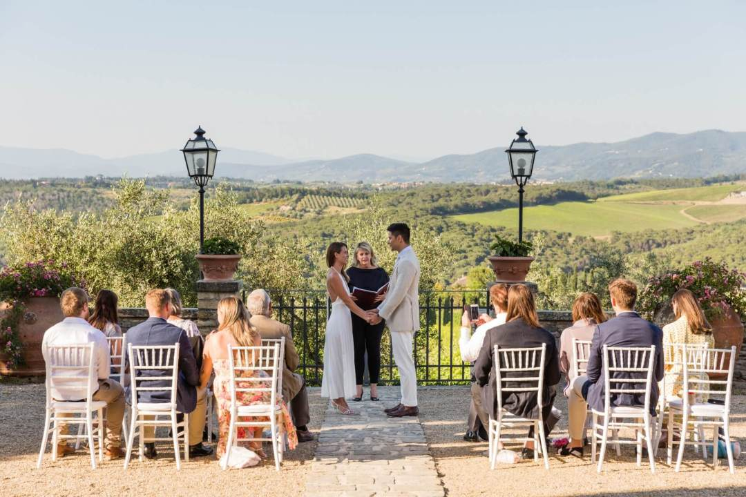wedding ceremony in an Italian Castle