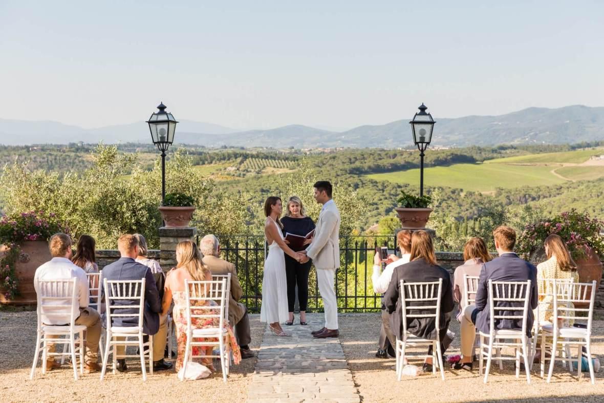 wedding ceremony in an Italian Castle