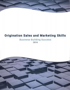 Origination Sales and Marketing Skills Cover