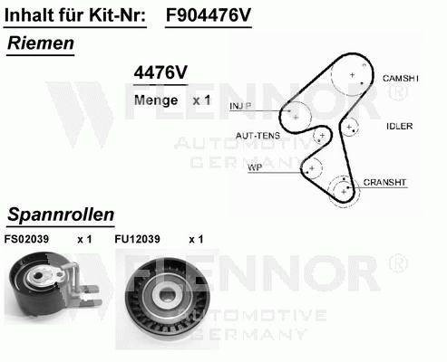 Kit distribution Peugeot 107 206 207 307 Citroen Xsara C2 C3
