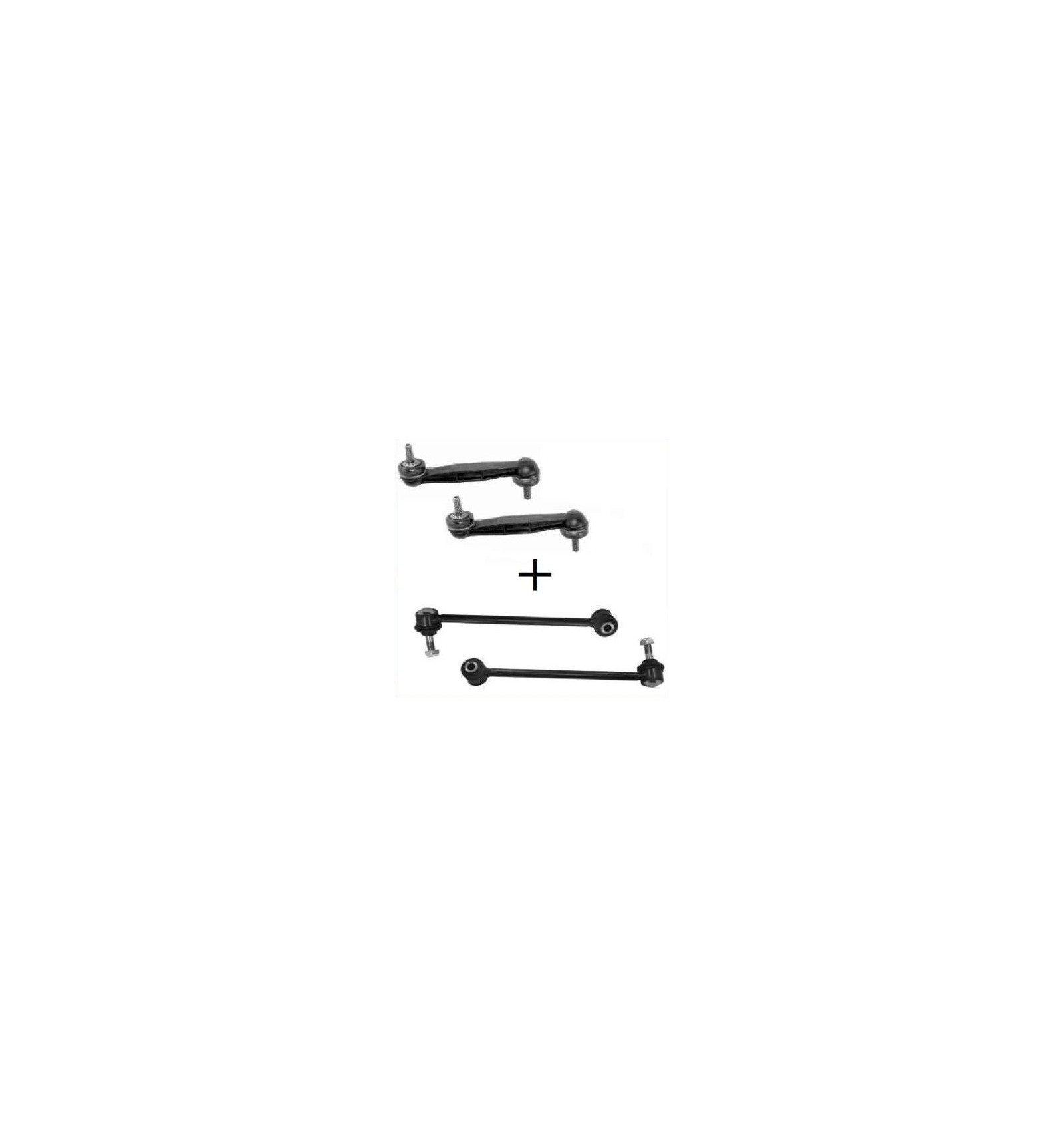 Lot de 4 Biellette de suspension Arrière Peugeot 406