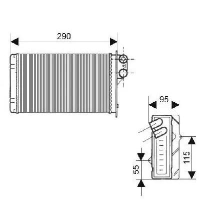 Radiateur de chauffage radiateur de chauffage Renault
