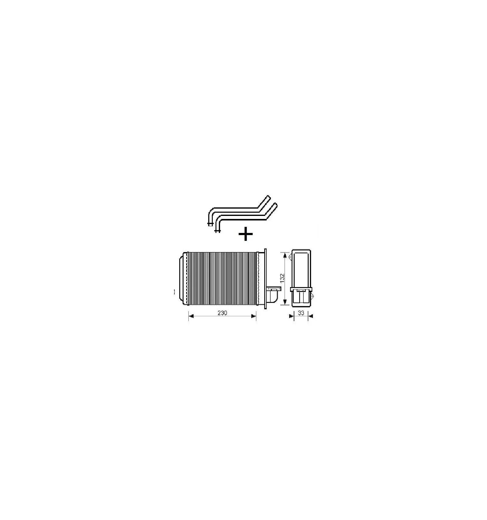Radiateur de chauffage interieur Peugeot 205+309