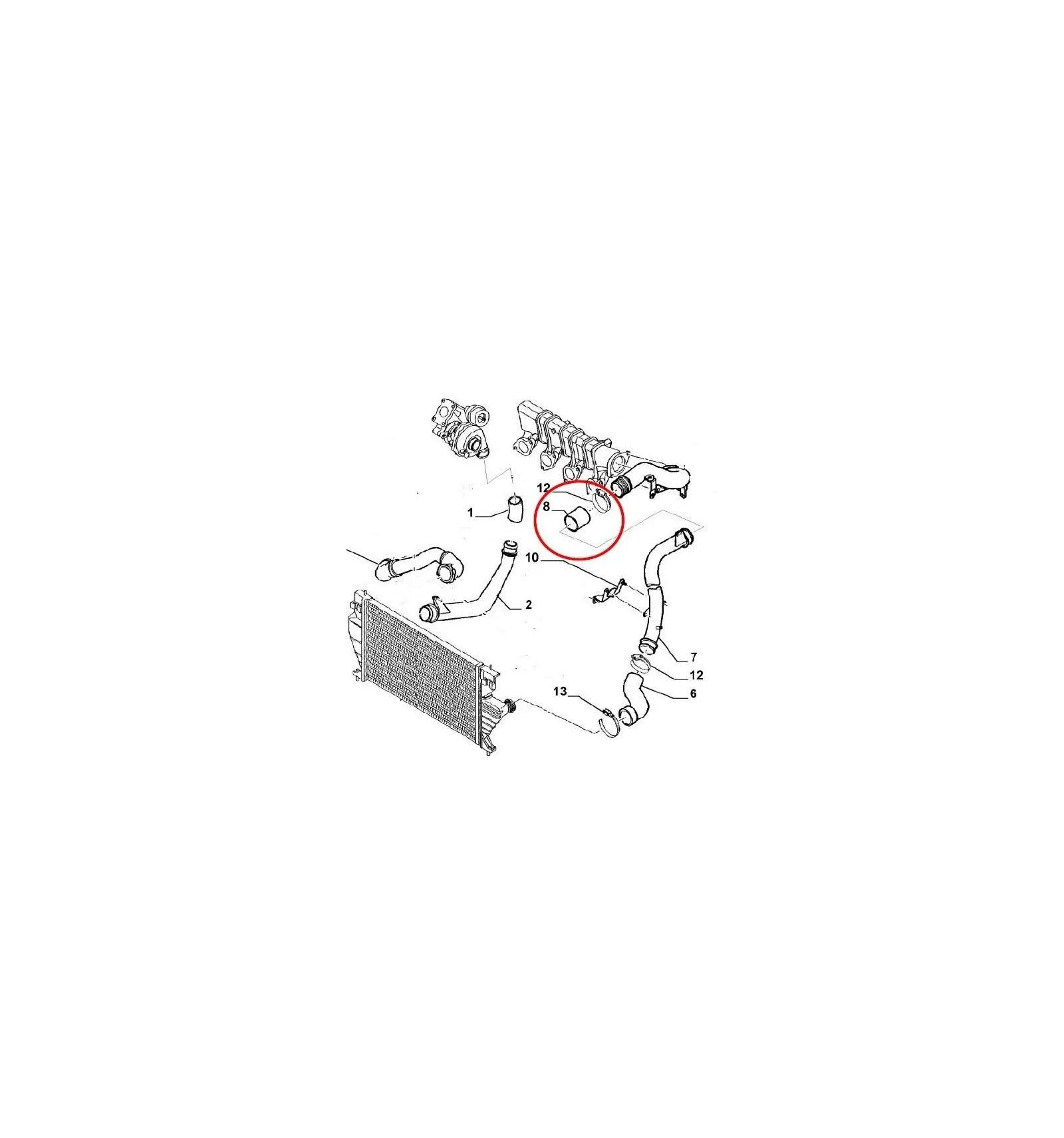 Durite turbo Fiat Ulysse et Scudo 2.0 Hdi