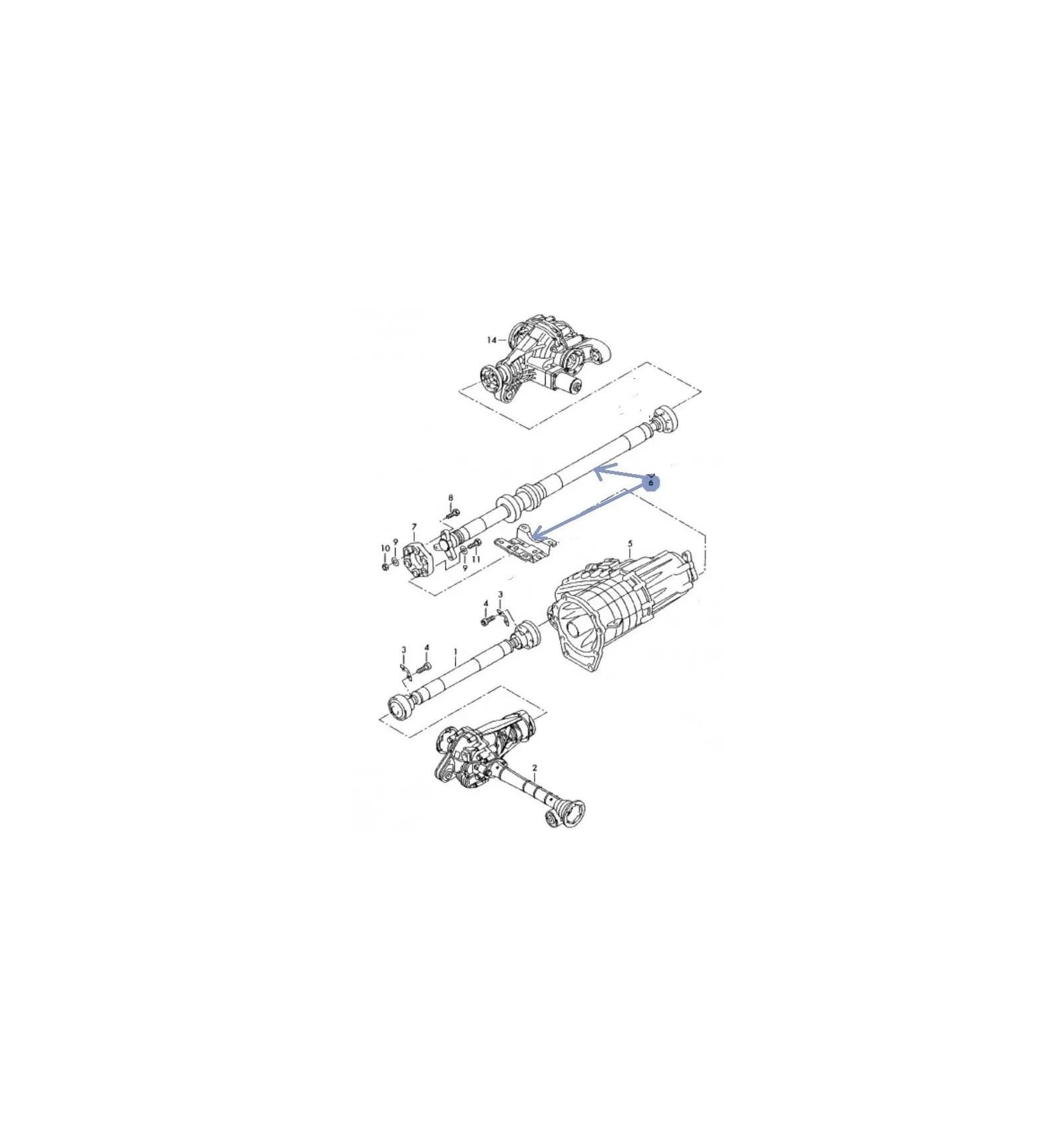 Porsche Arbre de transmission Vw Touareg Porsche Cayenne
