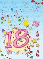 18 jaar verjaardagswensen kaartje