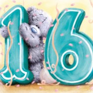 Sweet Sixteen wensen kaartje