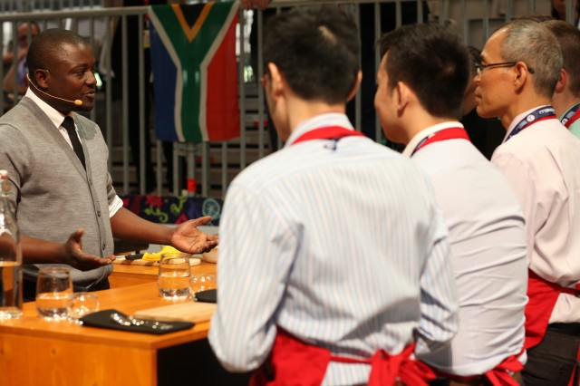 Lovejoy Chirambasukw competing at World Barista Champs 2013