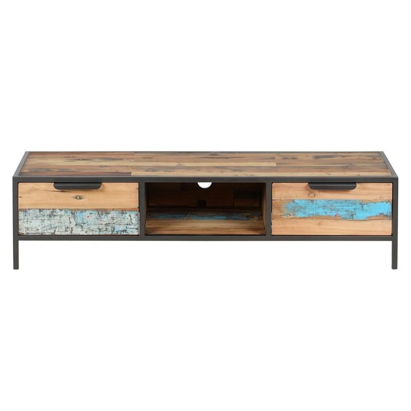 meuble tv industriel docker 140 cm