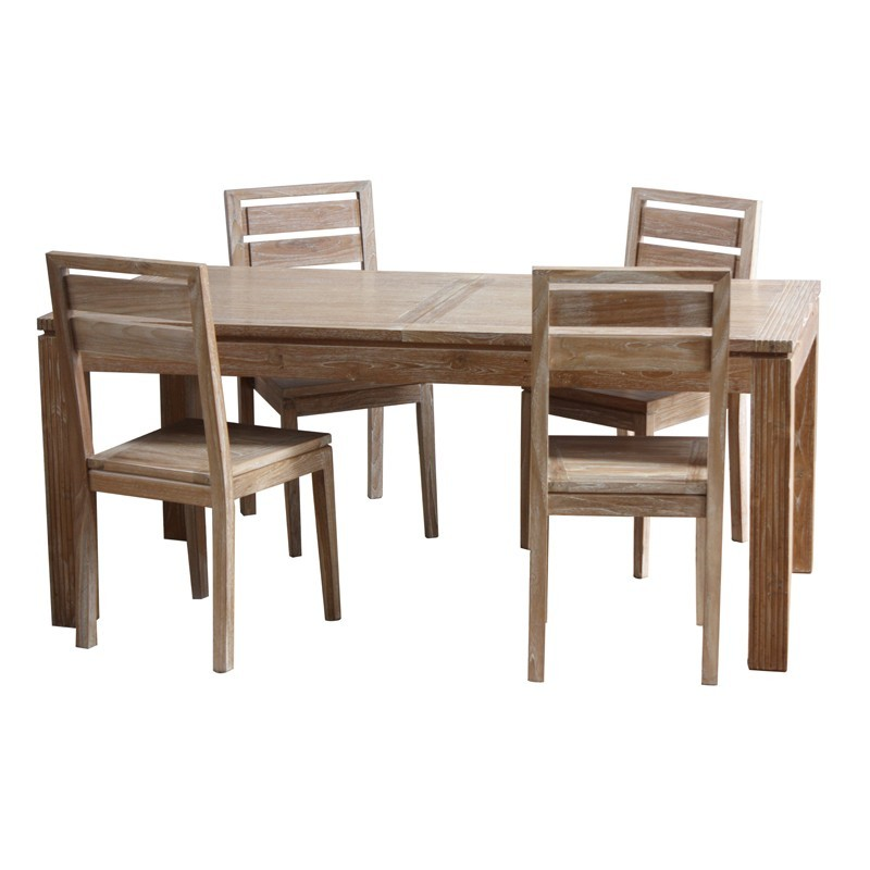 Table repas extensible en teck Macao Origins meubles