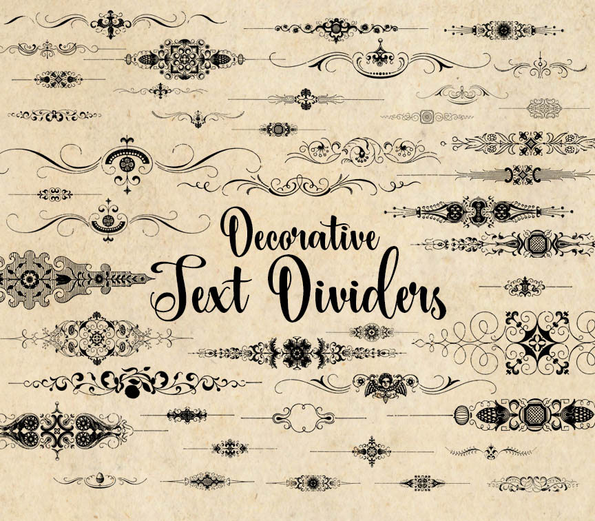 decorative text dividers clipart
