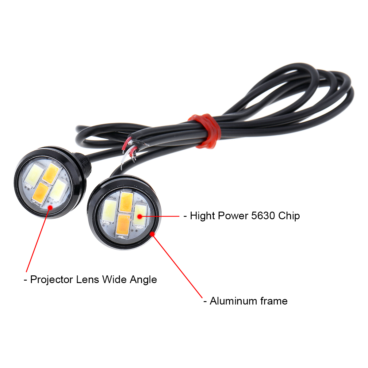 10 Pcs 23mm Eagle Eye Led Light Car Daytime Running Turn