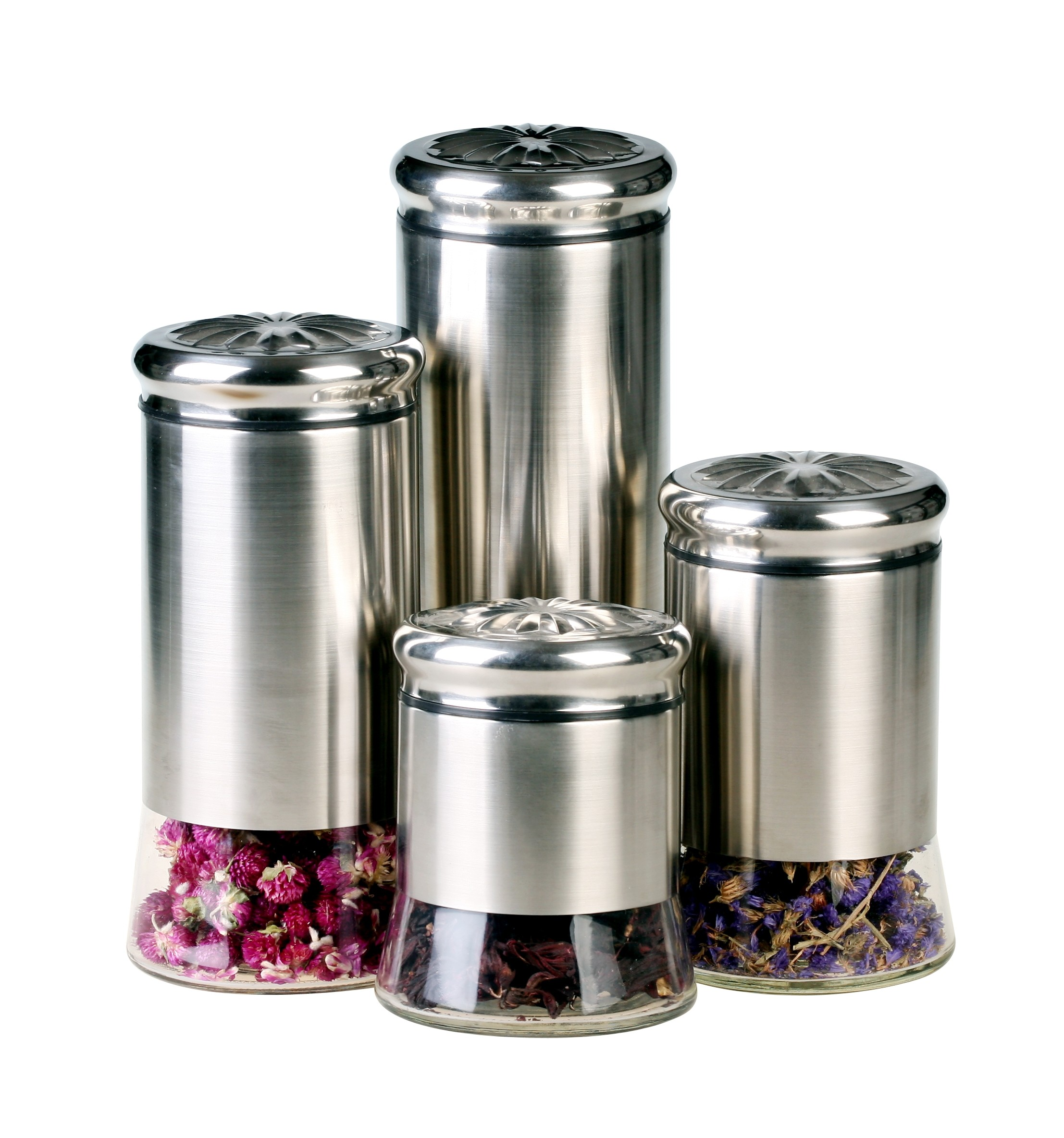 GBS3024 Helix 4 piece Canister Set  Kitchen Canisters