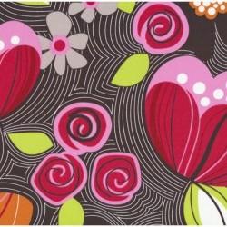 Patchworkstof - Blomstermønster