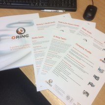 O Rings Product range Brochure