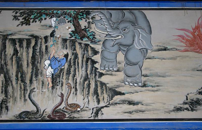 korea zen monastery temple frescoes parable honey