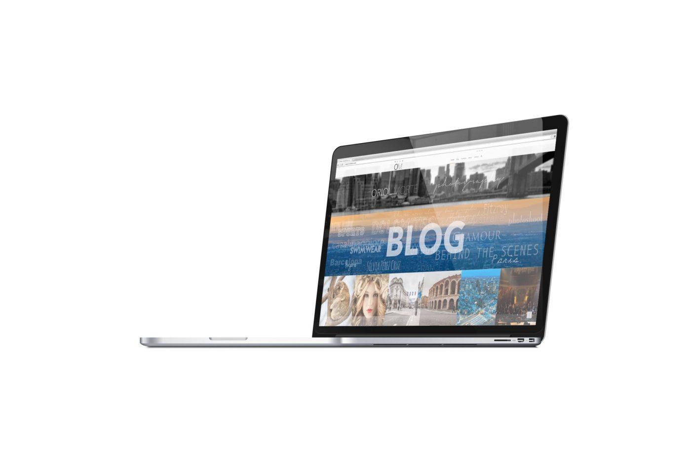 New website design at Oriolmorte.com