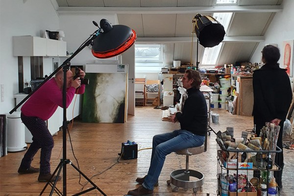 Blog Portrait von Maler Jürgen Buhre von Fotograf Orion Dahlmann aus Düsseldorf
