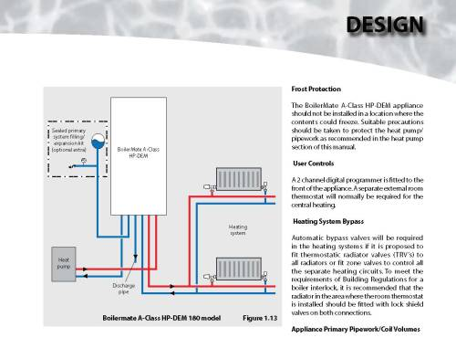 small resolution of suitable precautions should be taken to protect the heat pump pipework as recommended in the