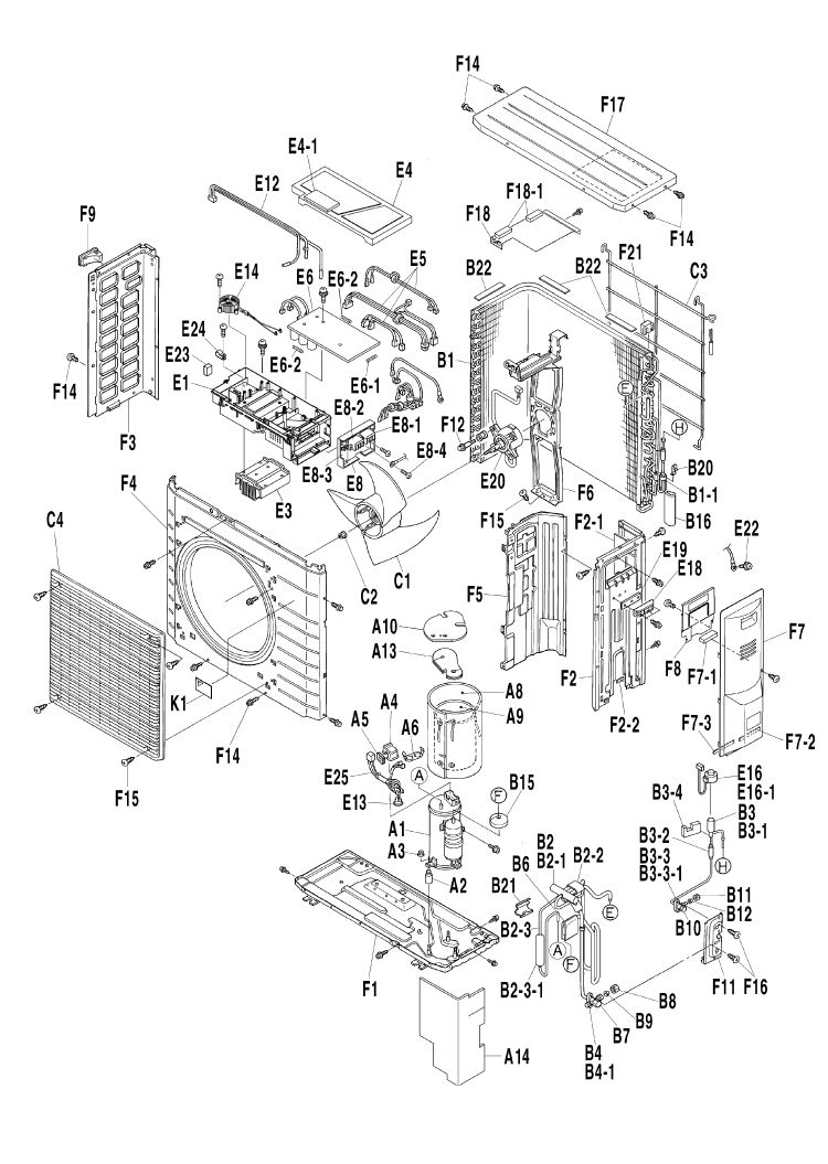Daikin Air Conditioning Spare Part 1688333 PCB PRINTED