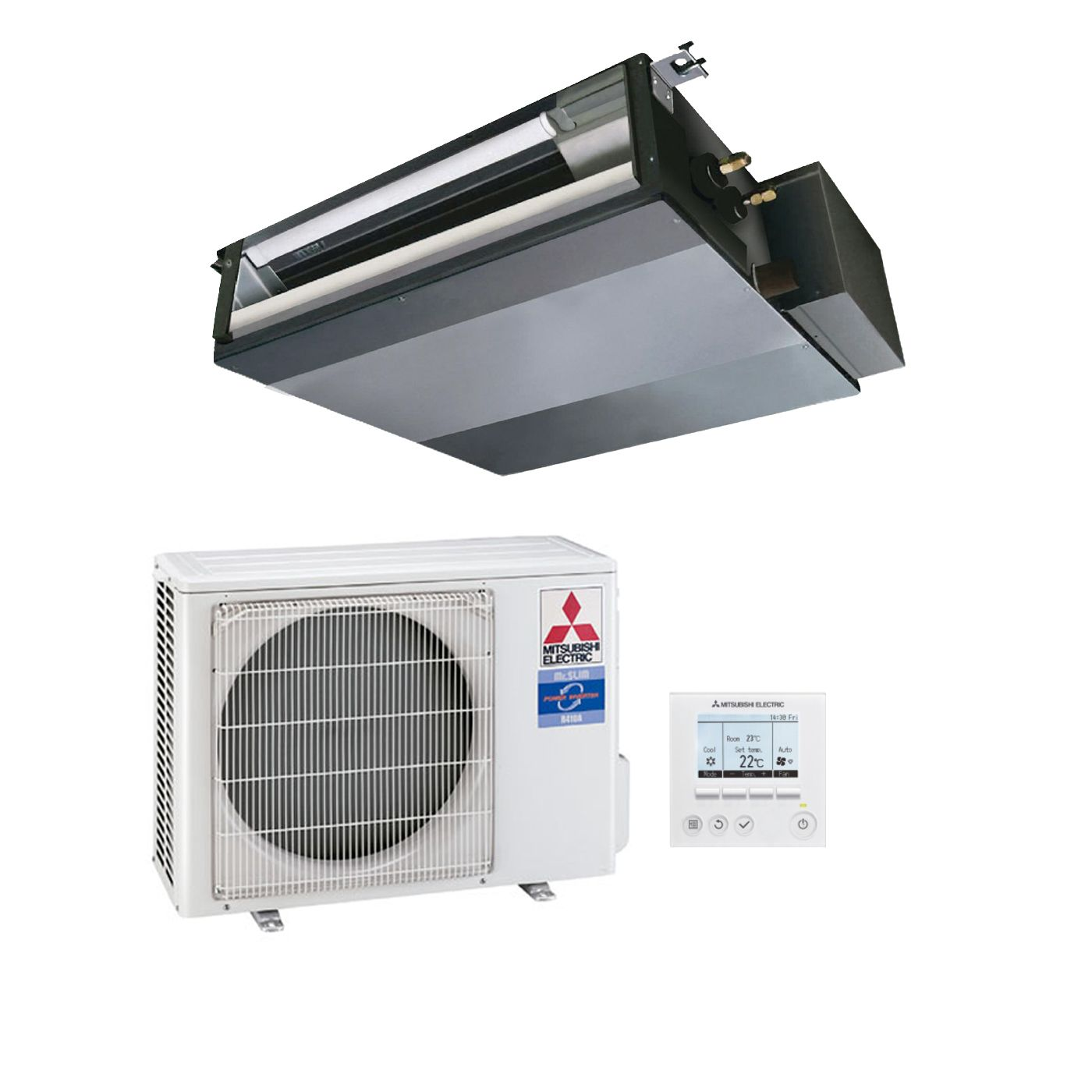 hight resolution of mitsubishi electric air conditioning sez ka50vaq concealed ducted heat pump inverter 5kw 17000btu a