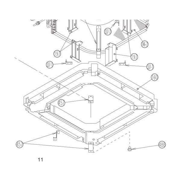 Fujitsu Air Conditioning Spare Part 9370934038 KIT DRN PAN