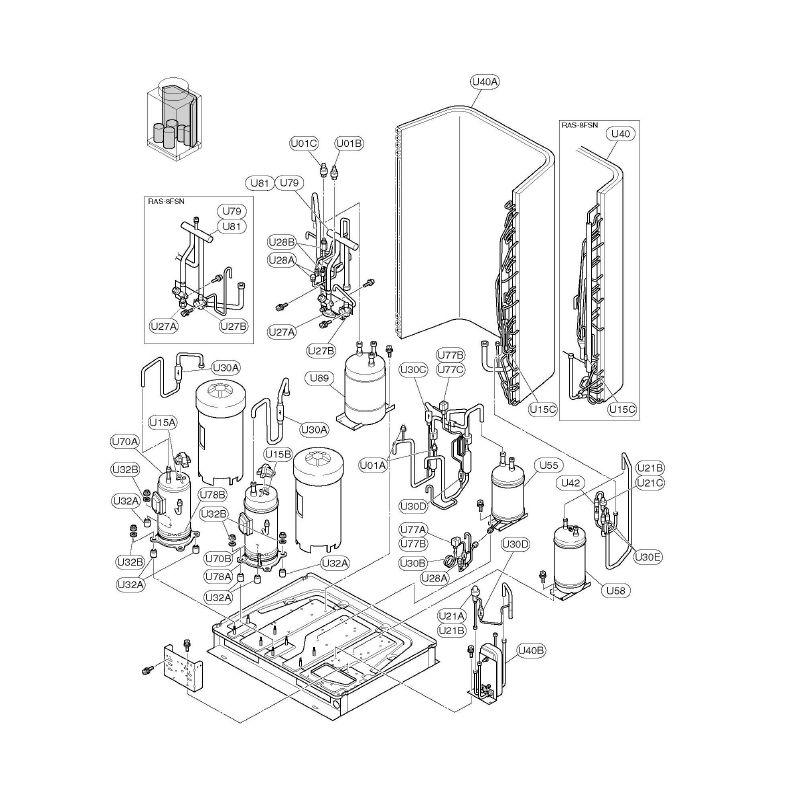 Hitachi Air Conditioning Spare Part 06931520 Compressor