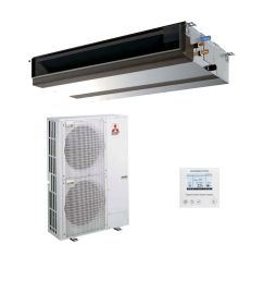 mitsubishi electric air conditioning pead m125ja ducted concealed inverter heat pump 12 5kw 42000btu [ 1400 x 1400 Pixel ]