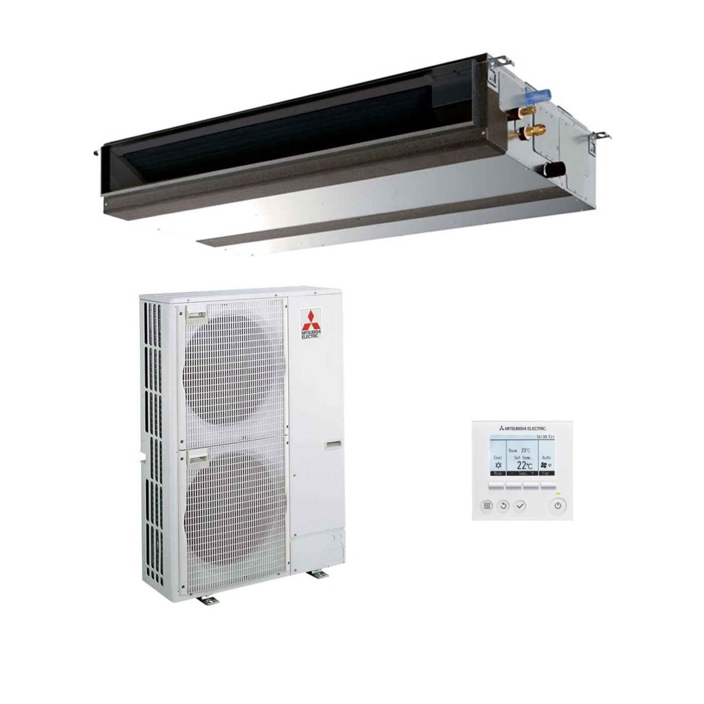 hight resolution of mitsubishi electric air conditioning pead m125ja ducted concealed inverter heat pump 12 5kw 42000btu