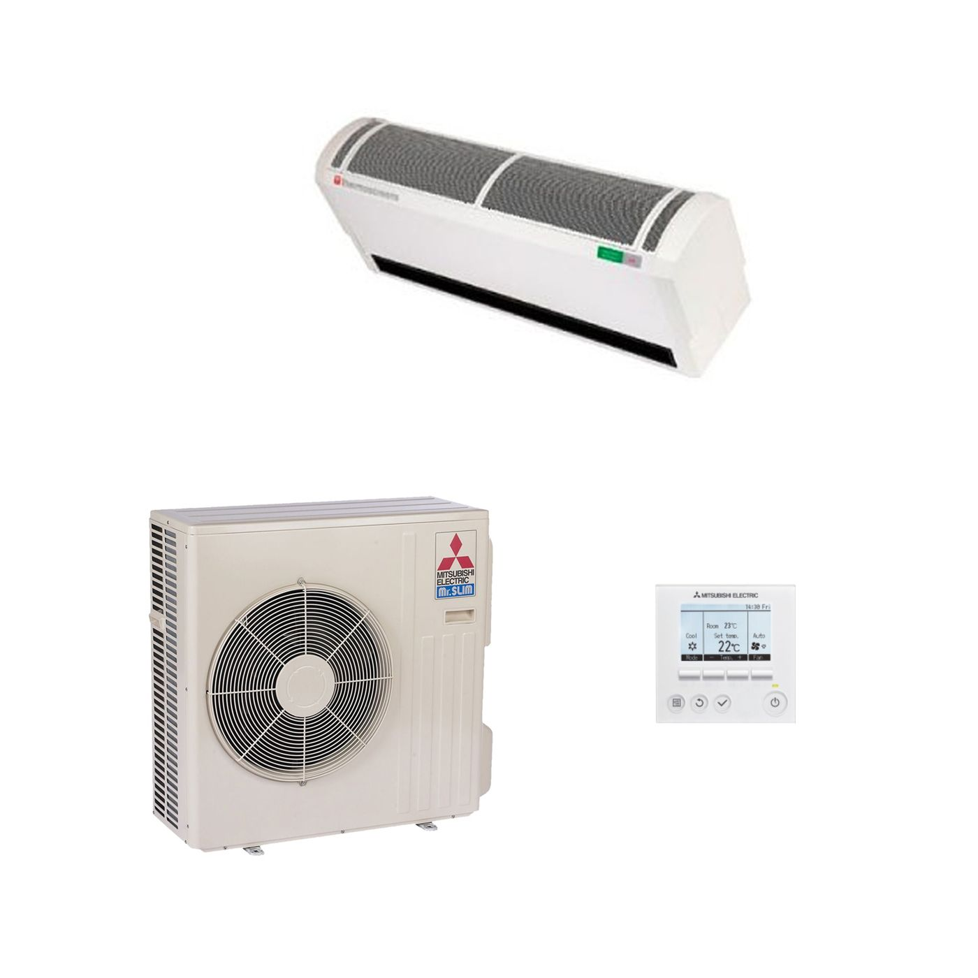 mitsubishi electric heat pump air curtain hp1000 dxe 8kw 27000btu 240v 50hz