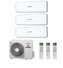 mitsubishi heavy industries air conditioning scm60zm s multi inverter heat pump 3 x srk25zs s wall mounted a 240v 50hz [ 1400 x 1400 Pixel ]