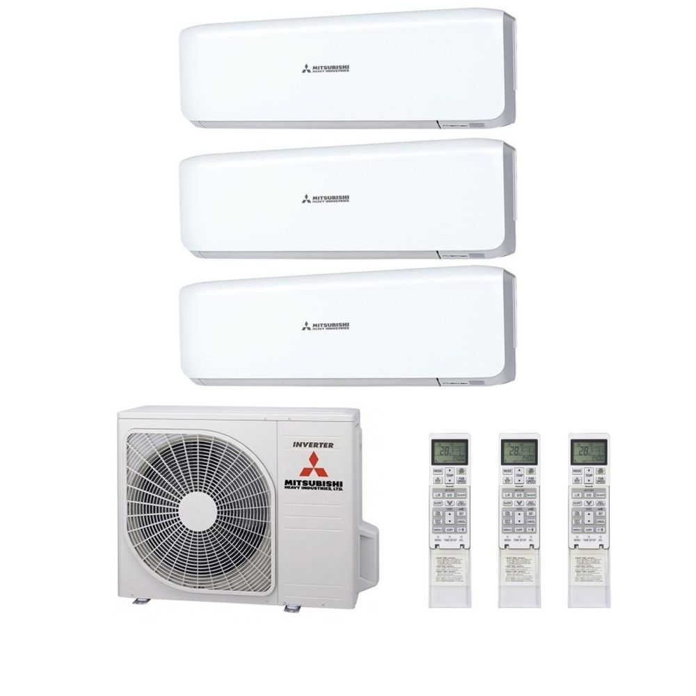 medium resolution of mitsubishi heavy industries air conditioning scm60zm s multi inverter heat pump 3 x srk25zs s wall mounted a 240v 50hz