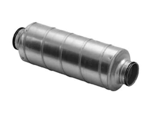 Duct Silencer Attenuator Various Diameters with rubber seal
