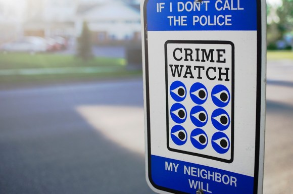 Neighborhood Crime Watch Sign for Safe Neighborhoods