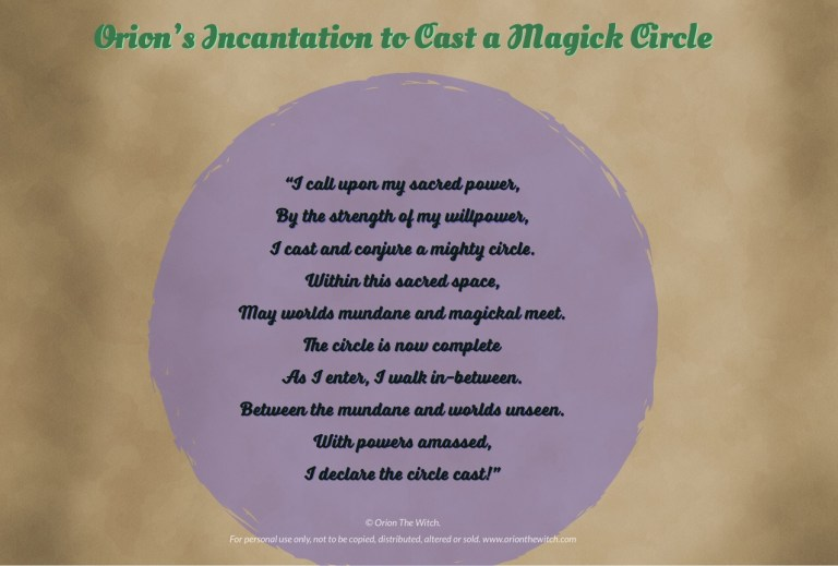 The Easy Guide to Casting a Magick Circle - Orion the Witch