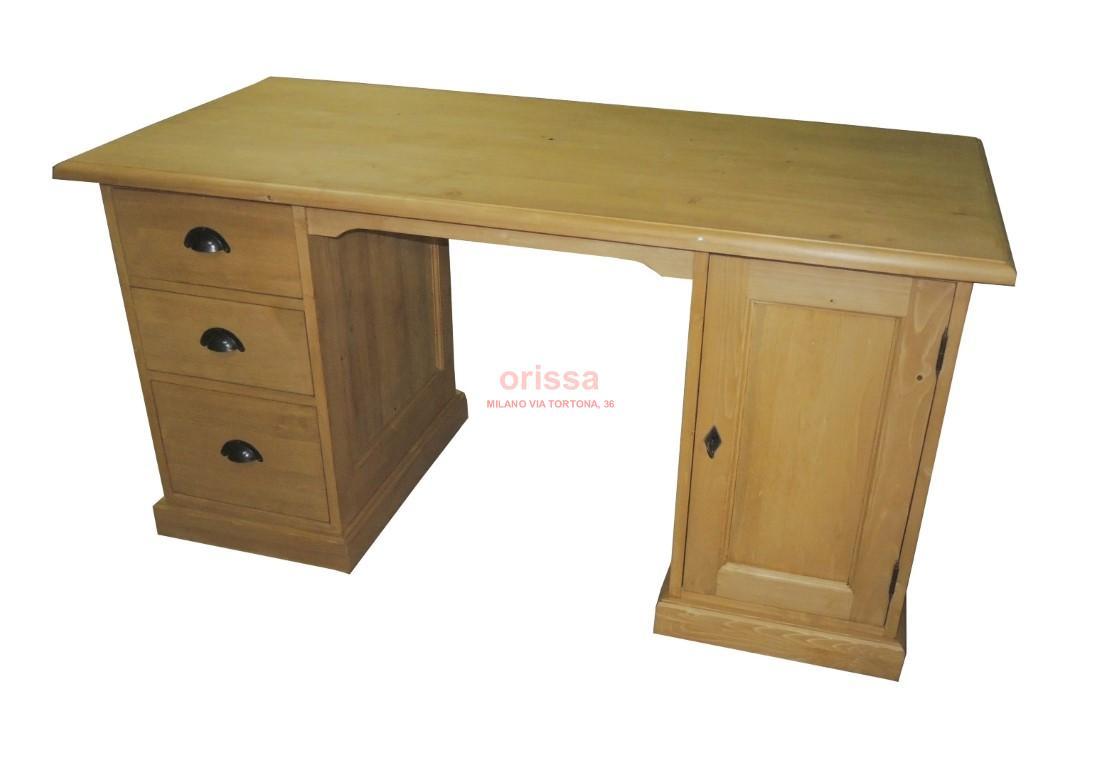 Scrivania legno massello  MS556  ORISSA Milano
