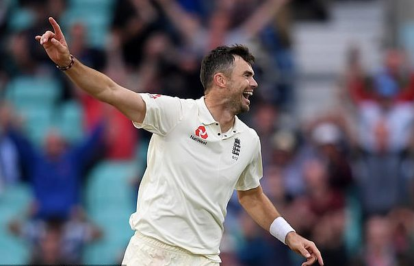 James Anderson after dismissing Mohammed Shami at the Oval celebrates after becoming the highest wicket-taker among fast bowlers, Wednesday