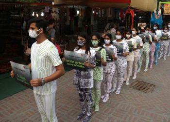 Fashion march by Delhi students
