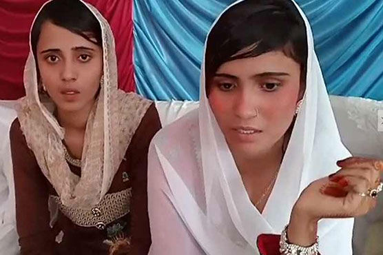 The two girls, Raveena (13) and Reena (15), were allegedly kidnapped by a group of 'influential' men from their home in Ghotki district in Sindh on the eve of Holi.