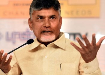 Naidu told the media here that polling was delayed at several places as the EVMs were not functioning. (Image: PTI)