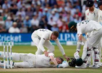 Smith was felled by a Jofra Archer bouncer Saturday.