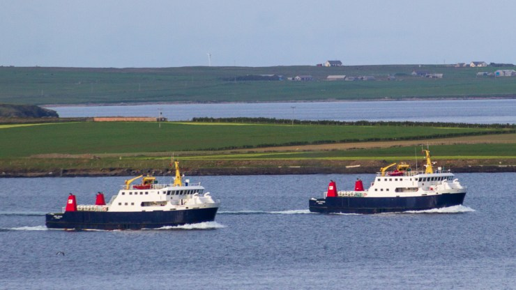 Orkney Ferries Earls heading for home