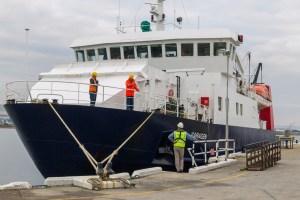 Ferry, Varagen, tied up in Kirkwall