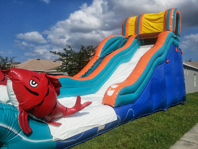 inflatable chairs for adults outdoor chair cushions sunbrella fabric 19 ft big kahuna water slide with splash pool :: orlando amusements